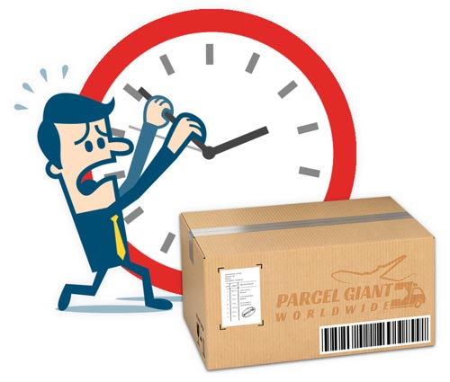 Clock and Parcel